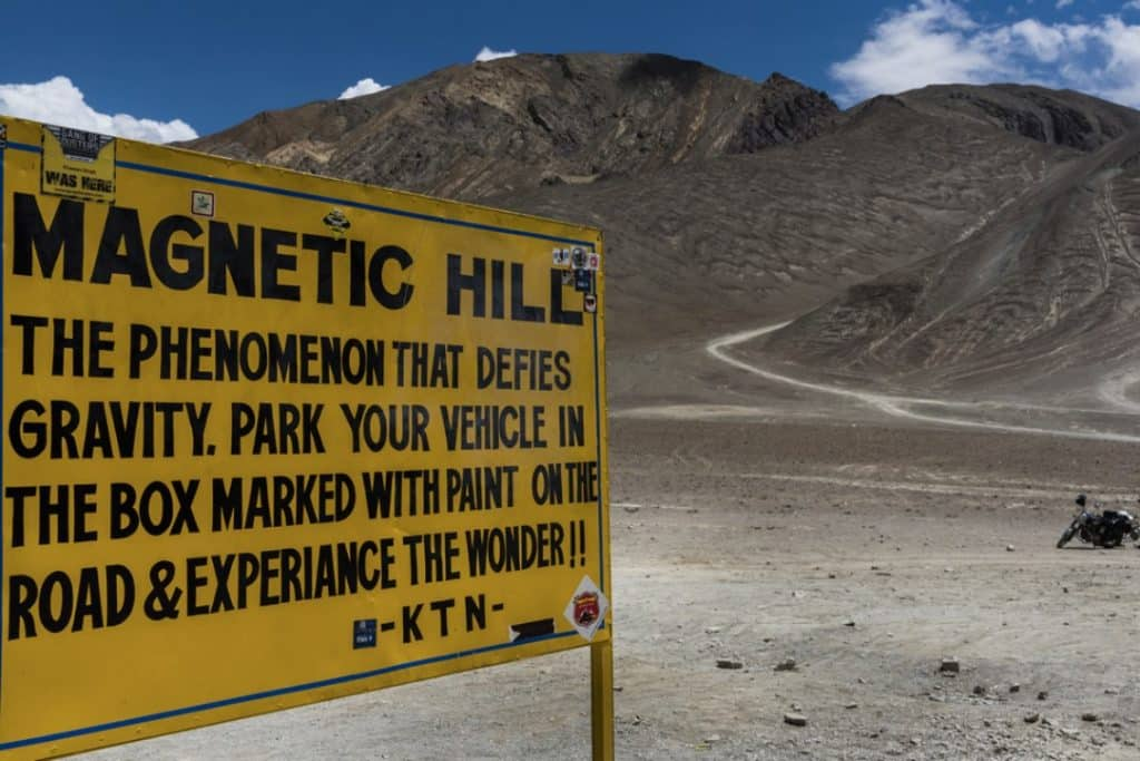 Magnetic Hill- bikers and TRAVELLERS FIRST CHOICE in Leh Ladakh