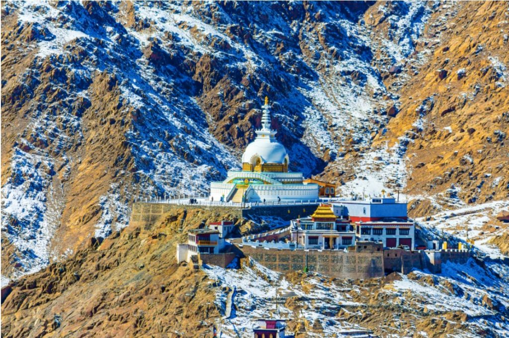 Shanti Stupa- Leh Ladakh Tourist destination